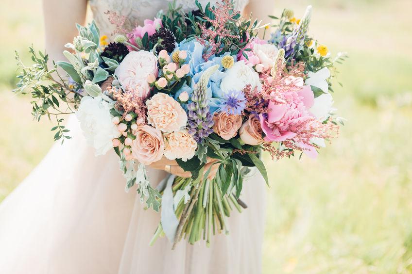 NM Wildflower Wedding Bouquet