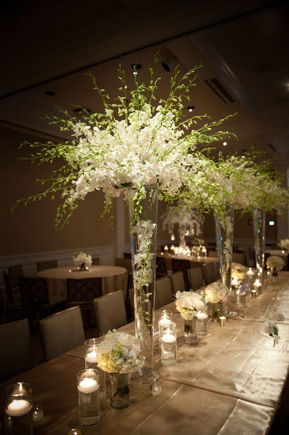 Upscale Luxury wedding reception flowers